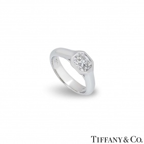 Tiffany & Co. Platinum Lucida Diamond Ring 1.03ct F/IF